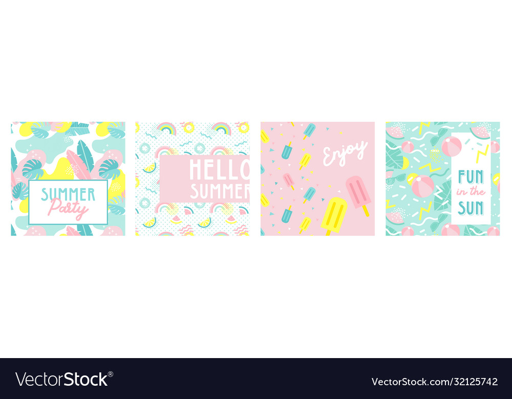 Design banner and card for summer season abstract