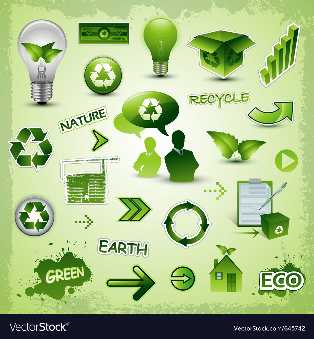Environment icons concept vector image