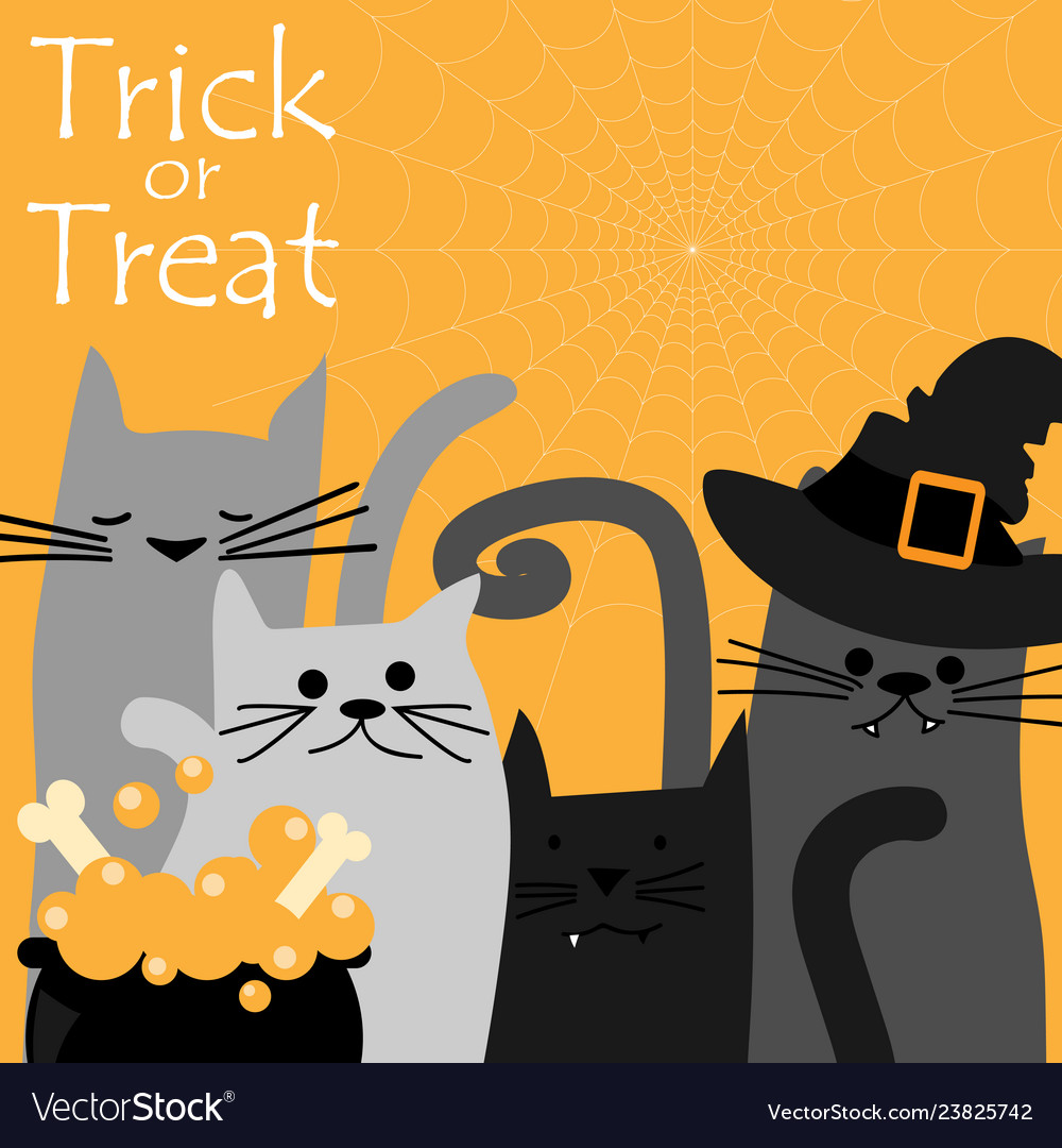 Halloween background with trick or treat text
