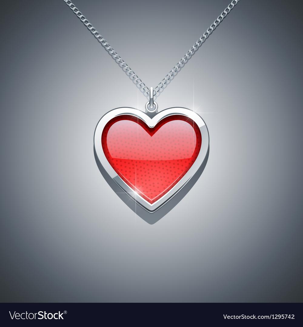 Heart on chain jewellery