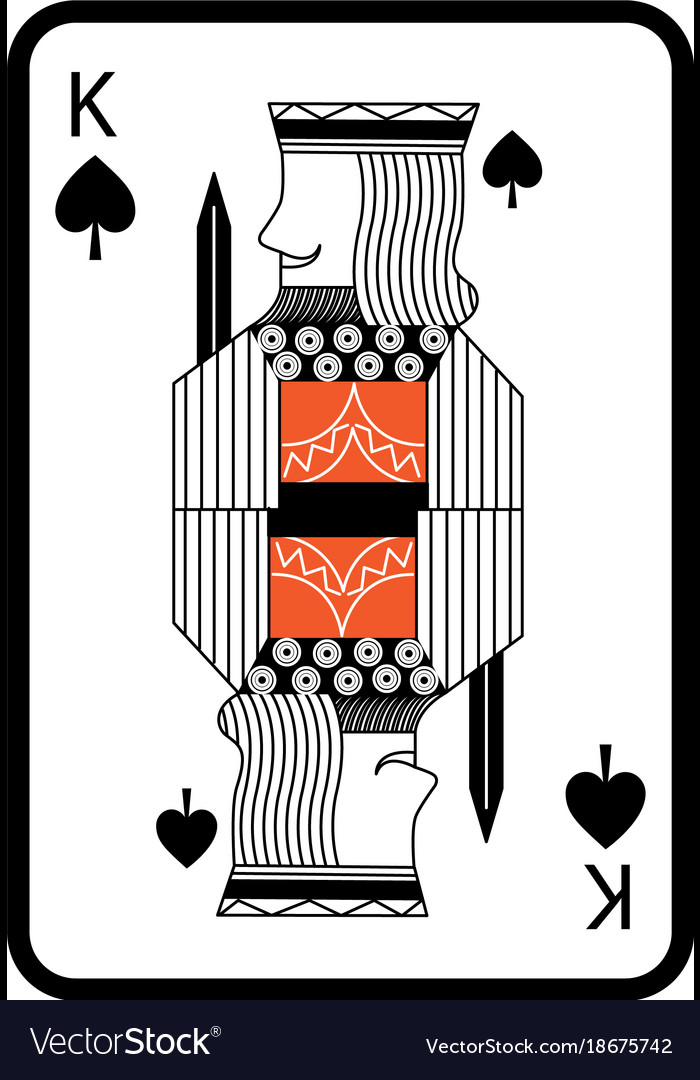 Poker King Of Spades Playing Card Royalty Free Vector Image
