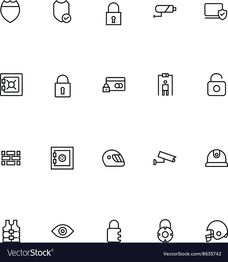 Security Line Icons 4