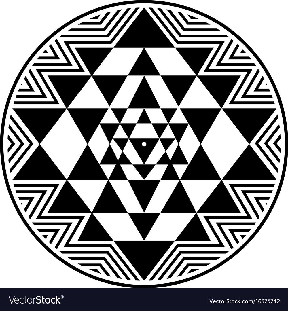 Sri Yantra Symbol Royalty Free Vector Image Vectorstock