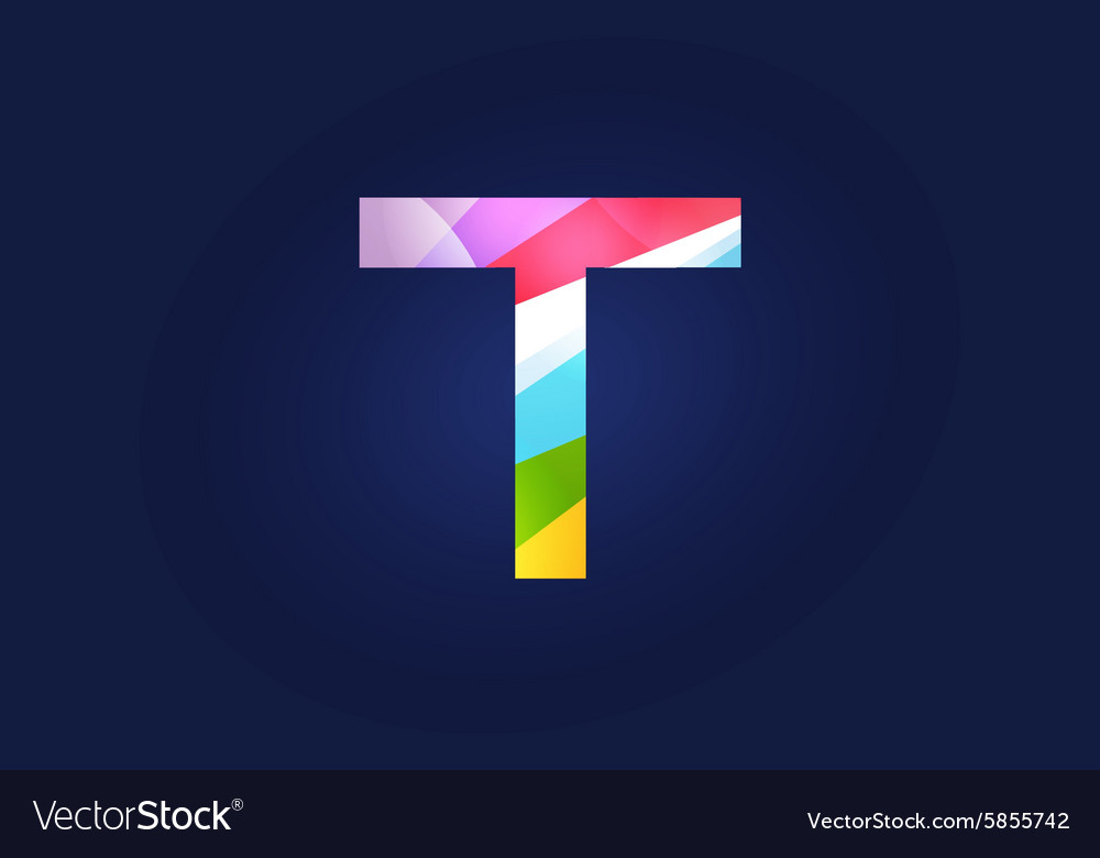 T letter logo icon symbol vector image