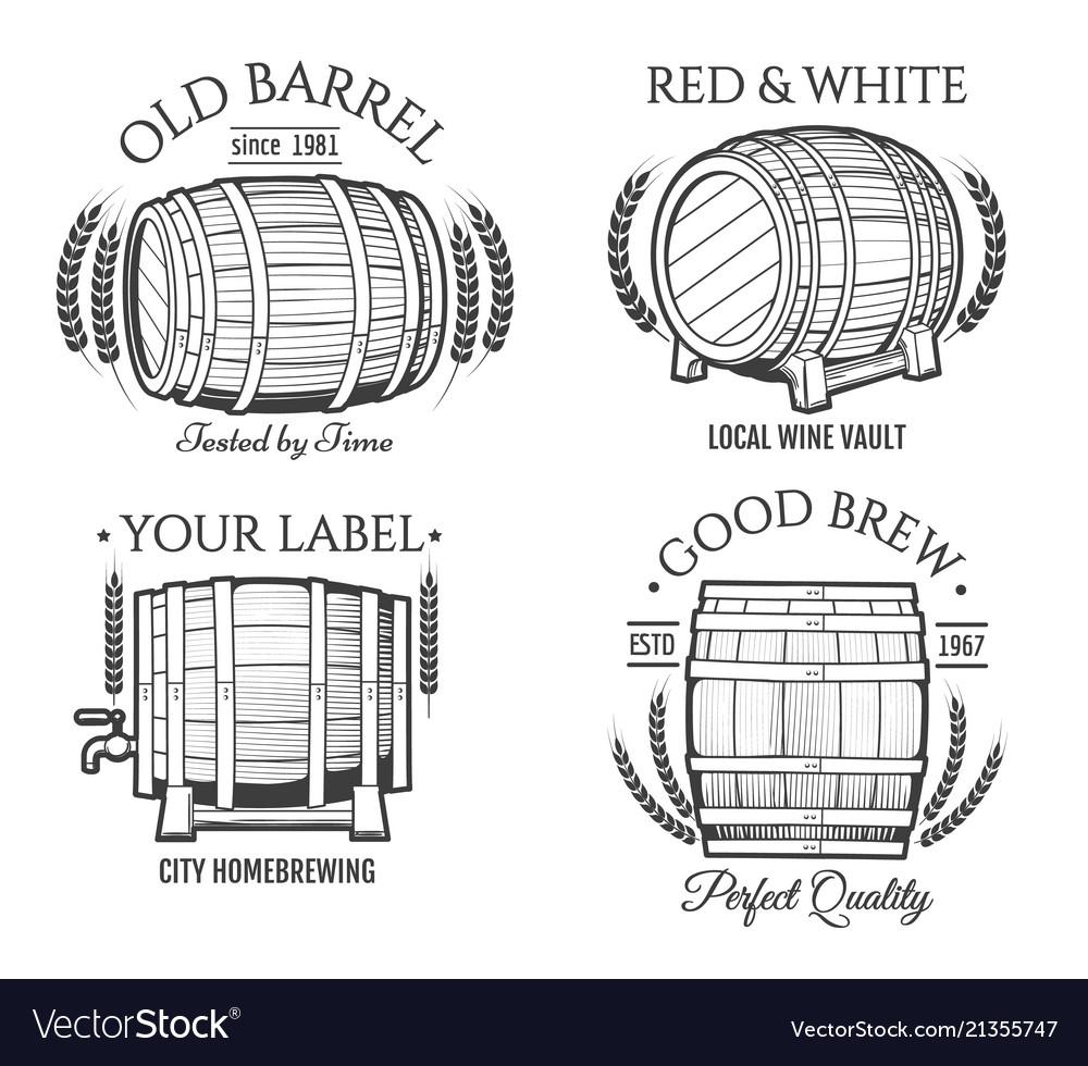 Barrel retro emblems