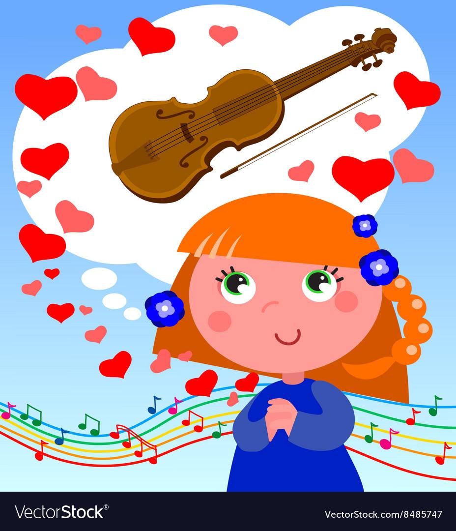 Dreams of music vector image