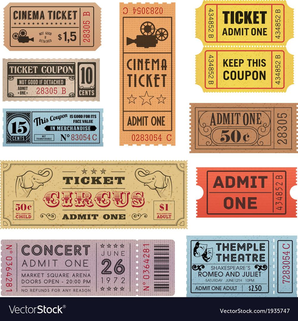 Grunge Ticket Set 1