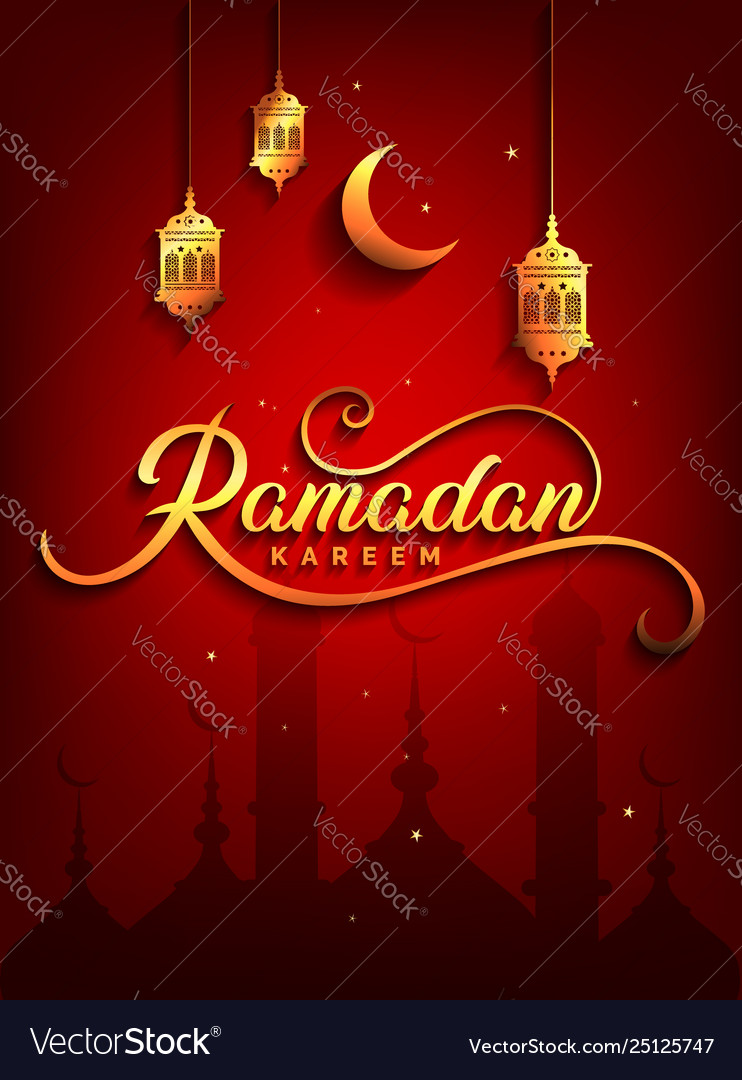 Ramadan kareem greeting beautiful lettering for