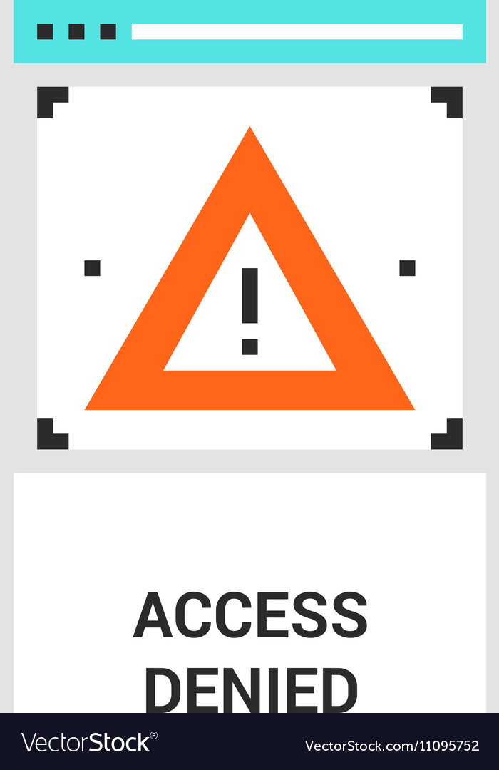Access denied icon vector image