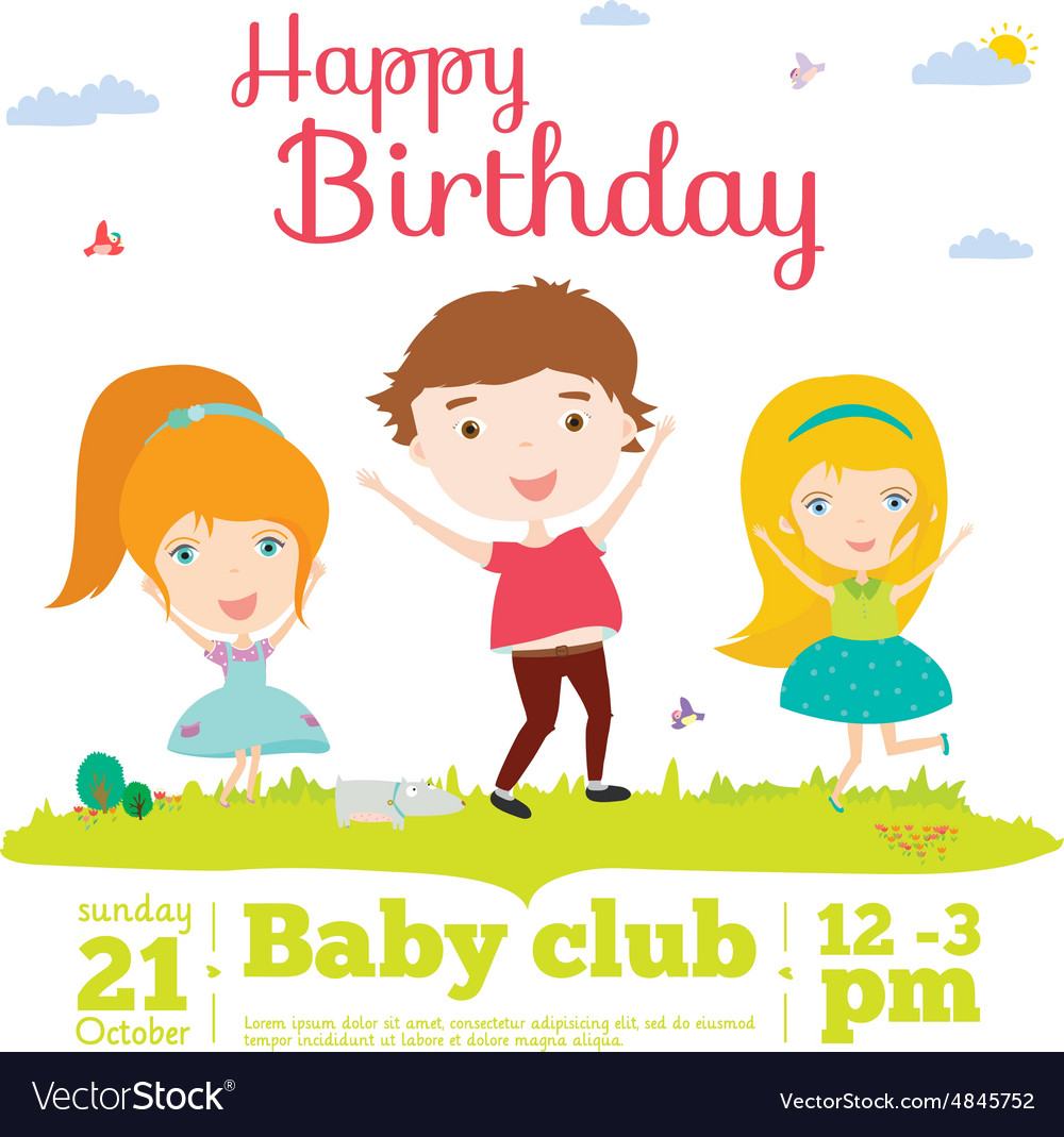 Birthday Invitation Card On Baby Party With