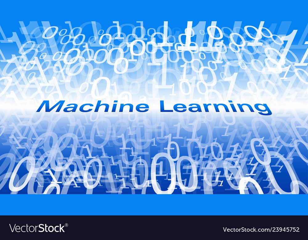 Digital World Machine Learning Algorithm New Vector Image