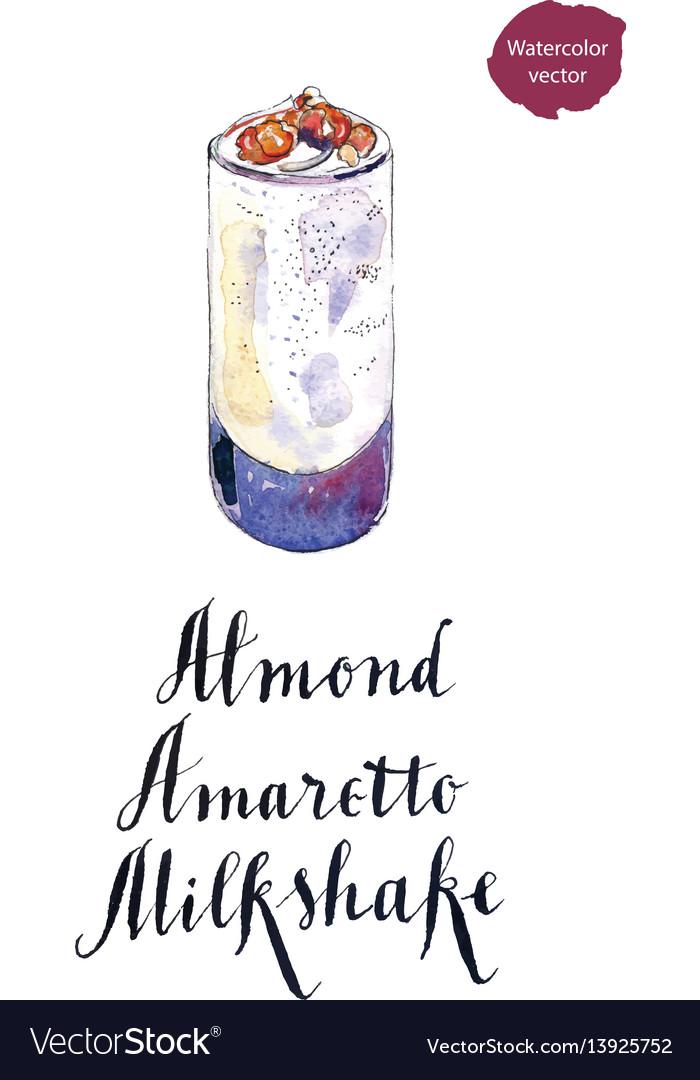 Glass of almond amaretto milkshake