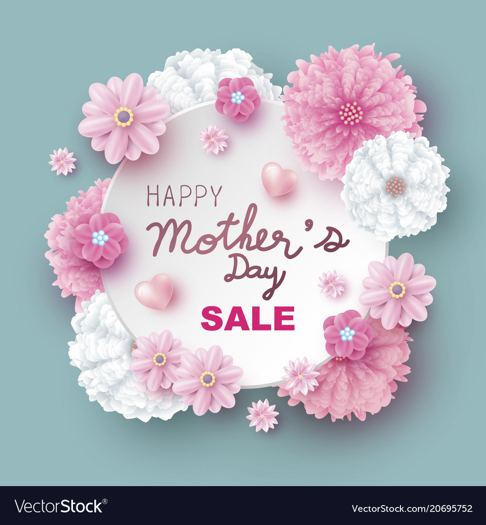 Mothers day sale design of flowers
