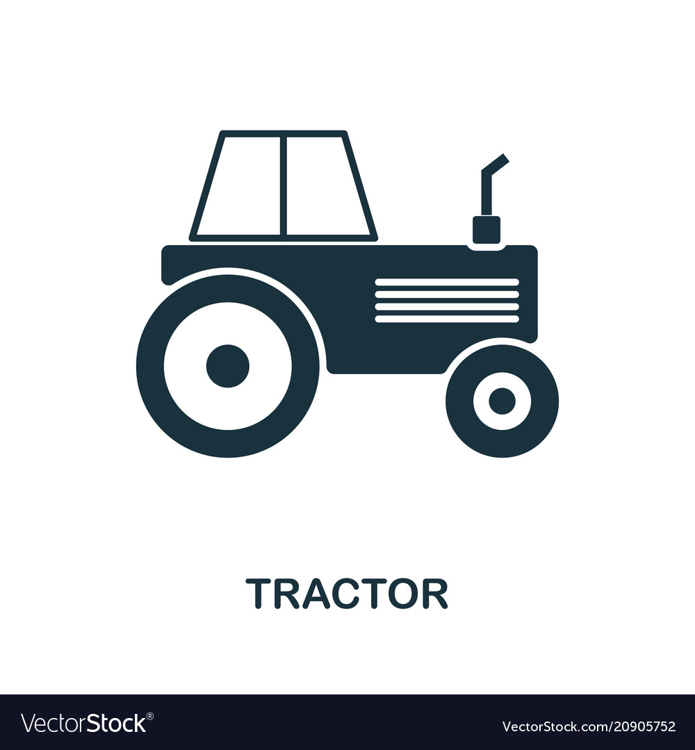 Tractor icon in flat style icon design