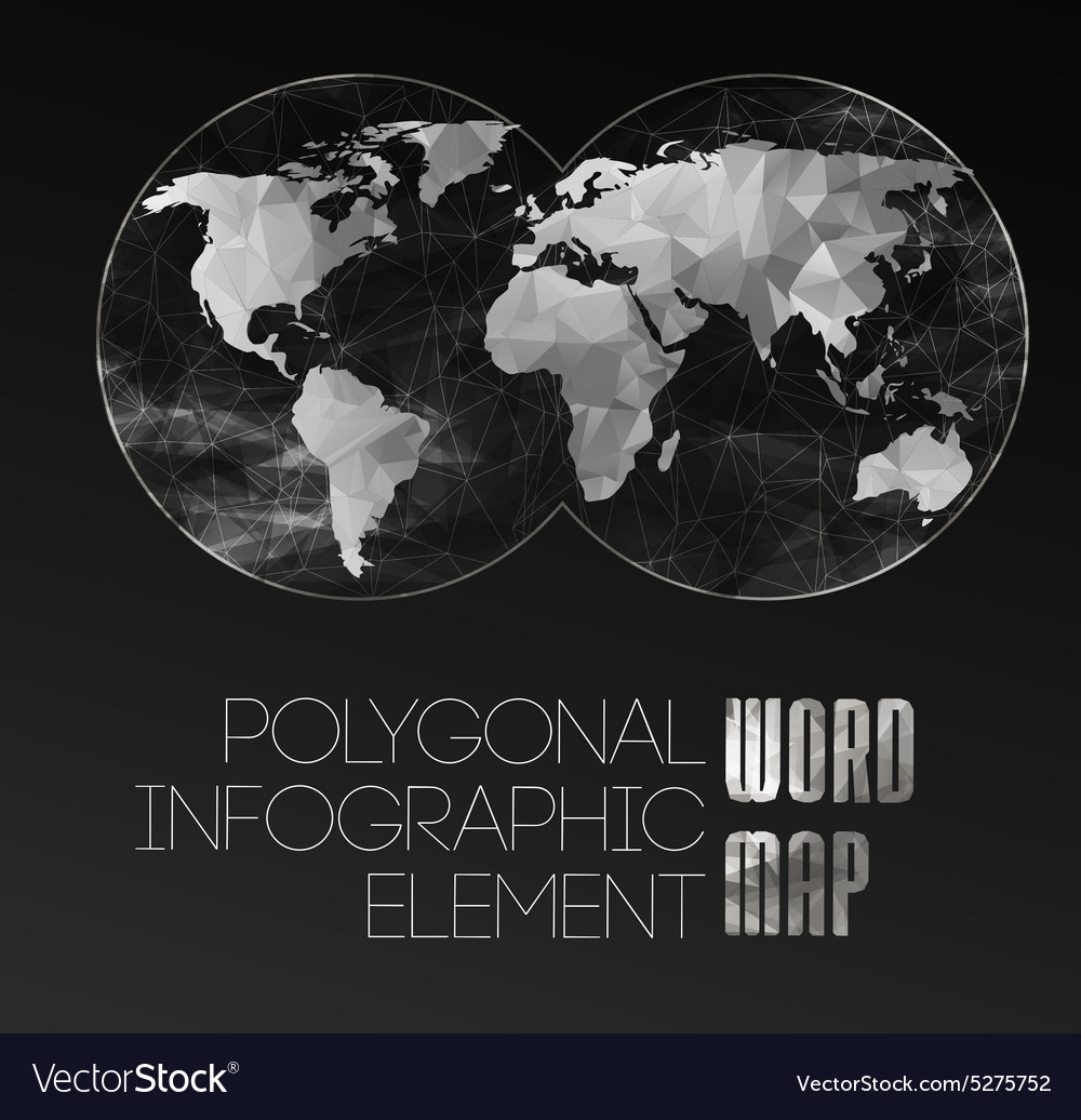 World Map And Typography Royalty Free Vector Image