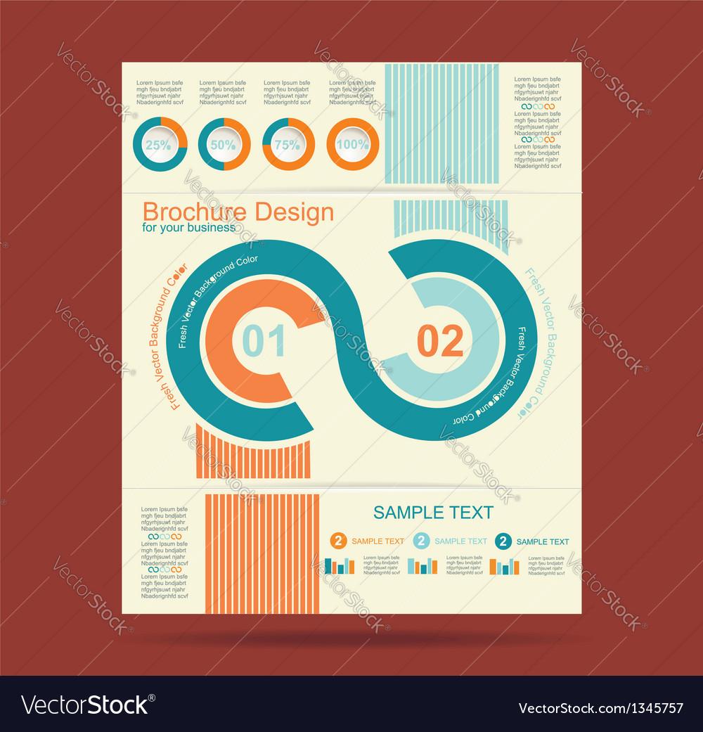 Advertising brochure design template