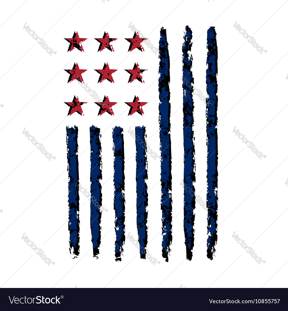 American vertical flag symbol celebration vector image