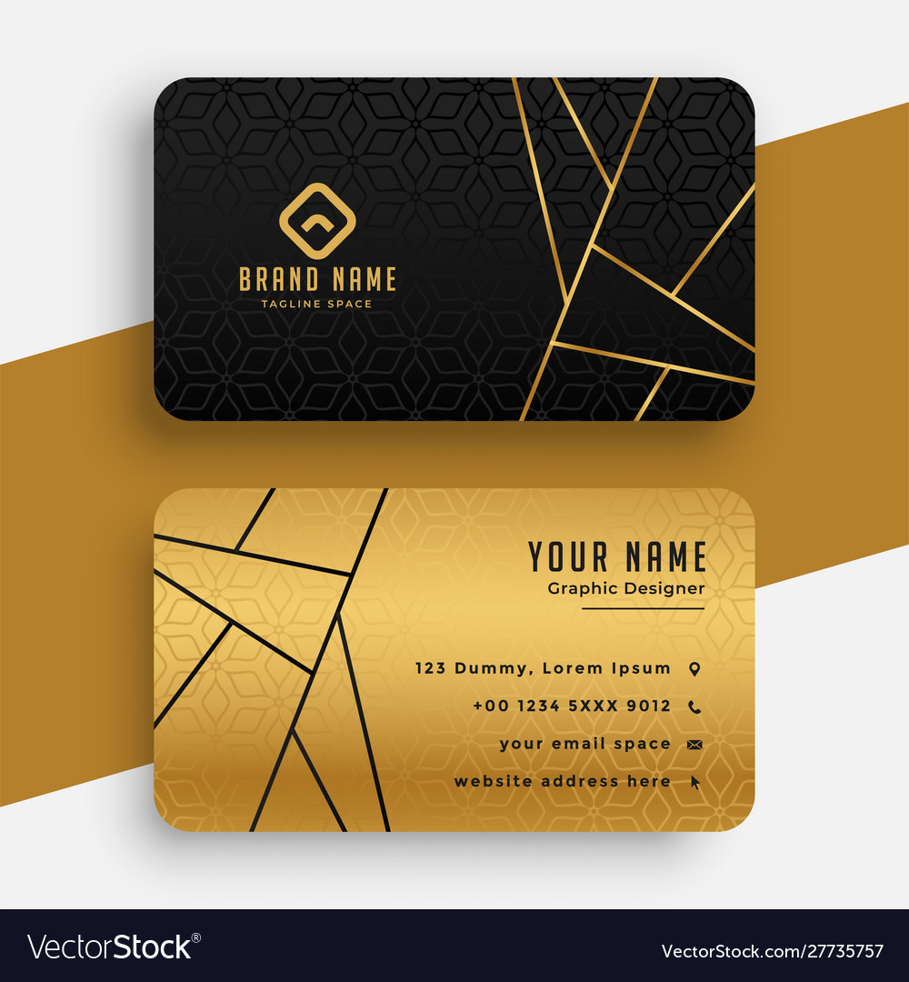 Black and gold luxury vip business card design
