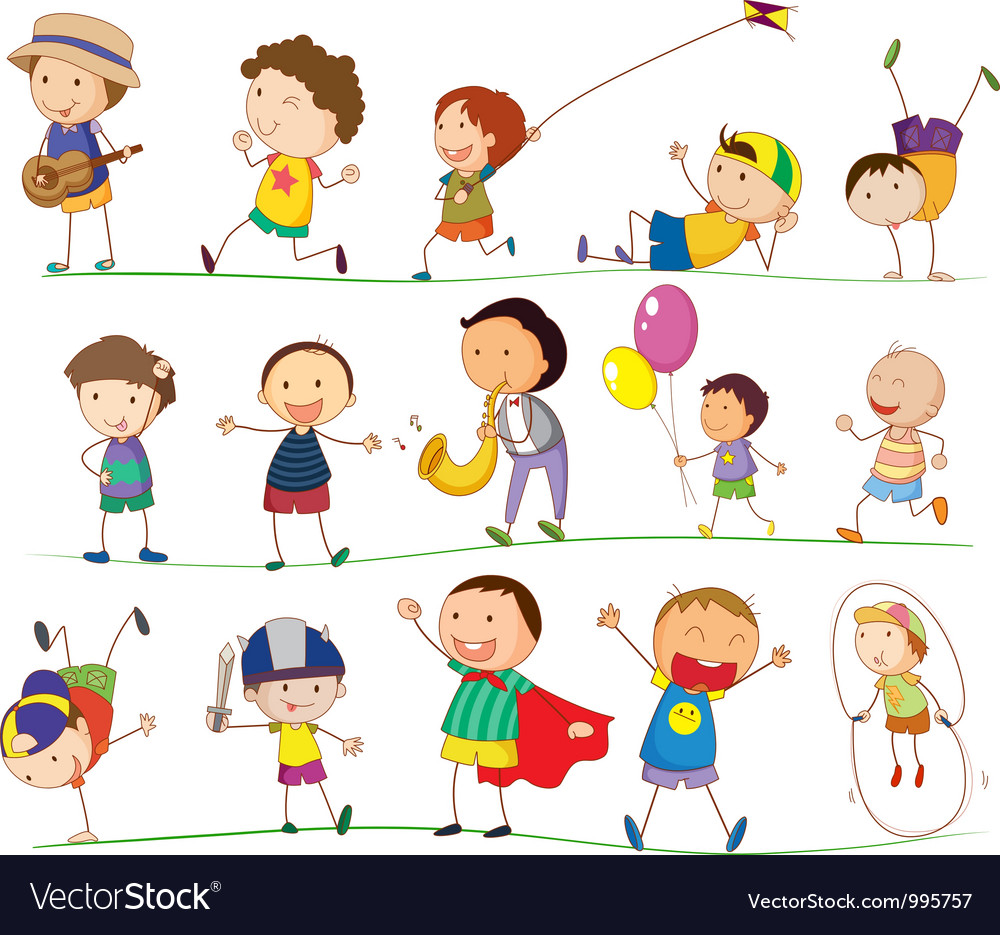 Cute Family and Kids vector image