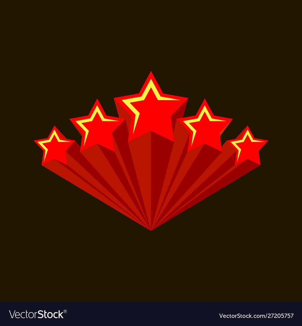 Five stars raiting burst five red stars