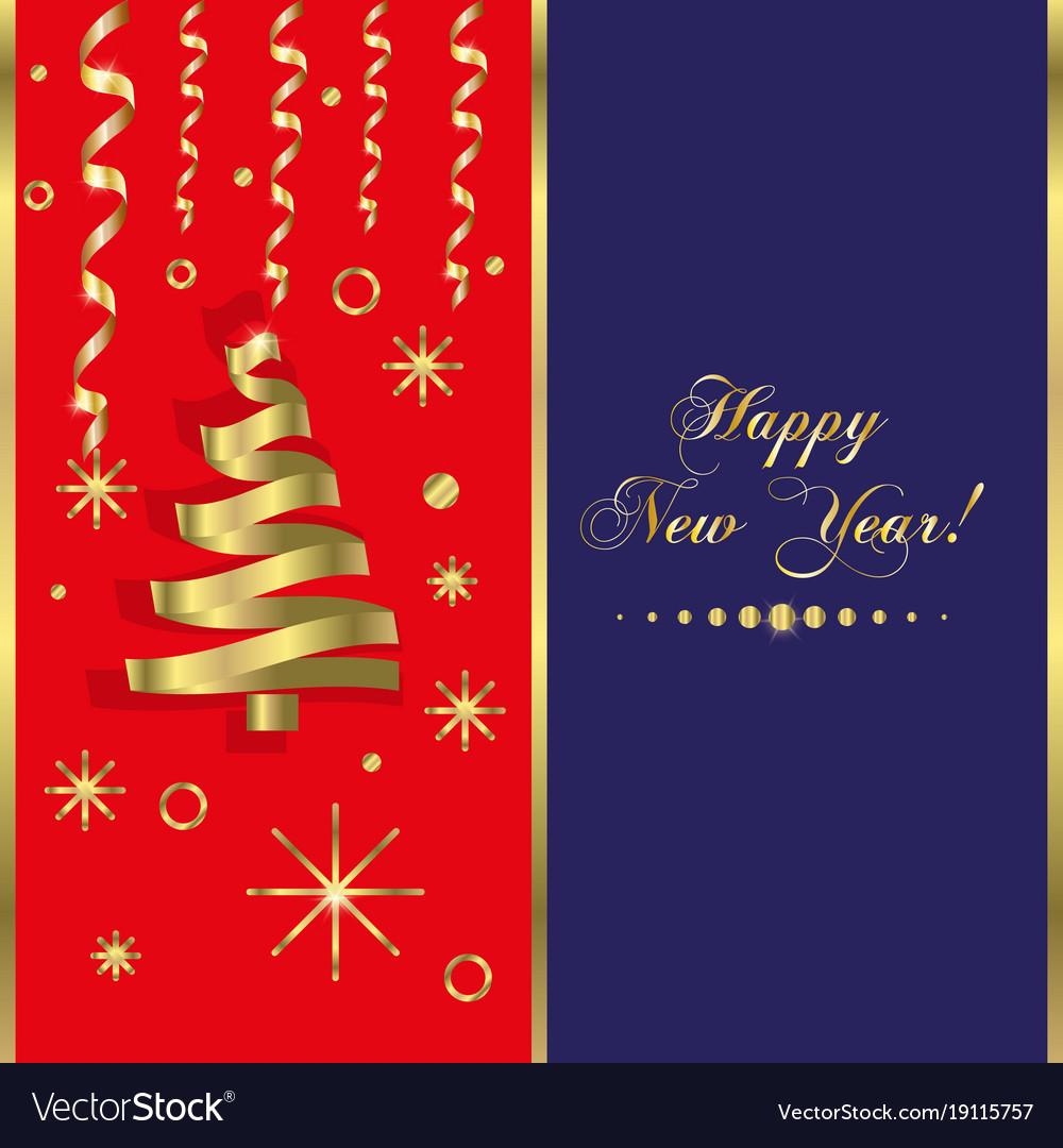 Happy new year background snowflake winter design