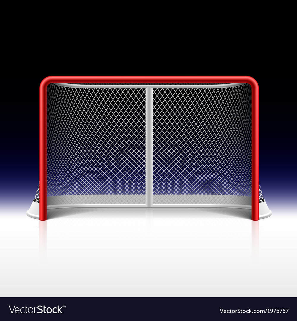 Net Goal On Black Royalty Free Vector Image