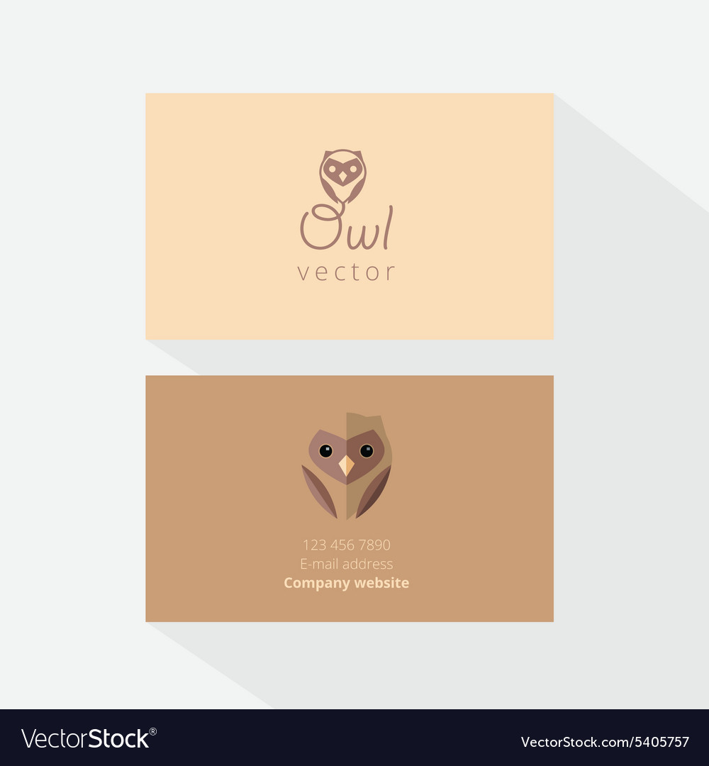 Owl business card template royalty free vector image owl business card template vector image colourmoves