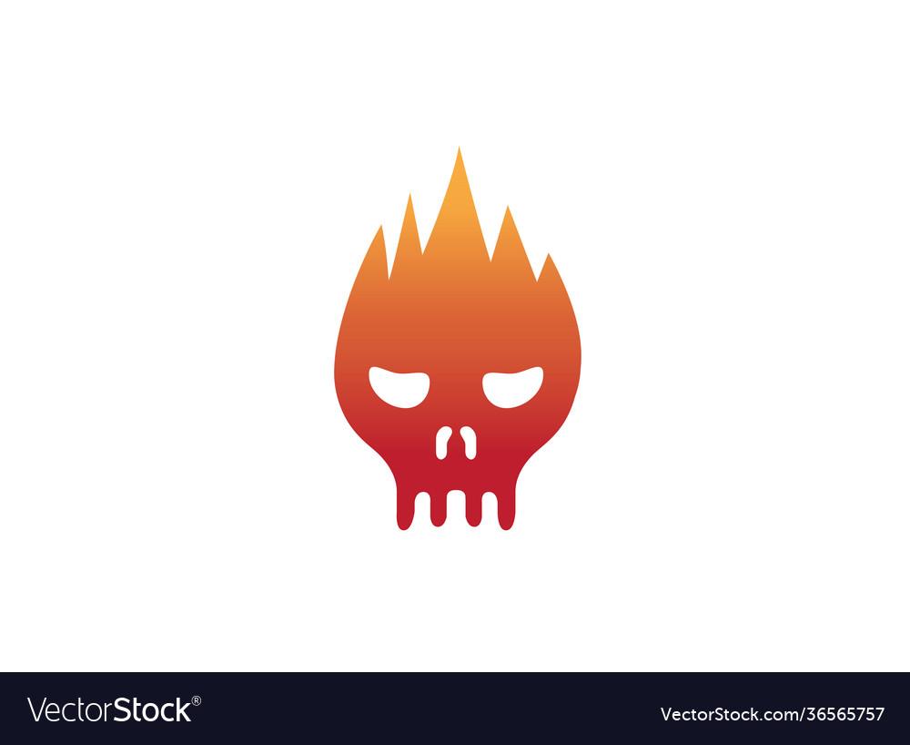 Skull fire head logo