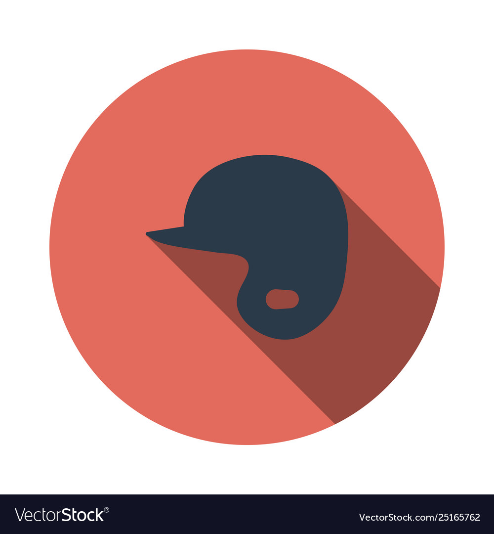 Baseball helmet icon