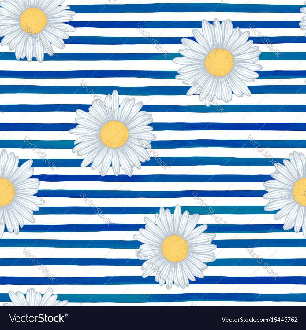 Beautiful seamless pattern with blue watercolor