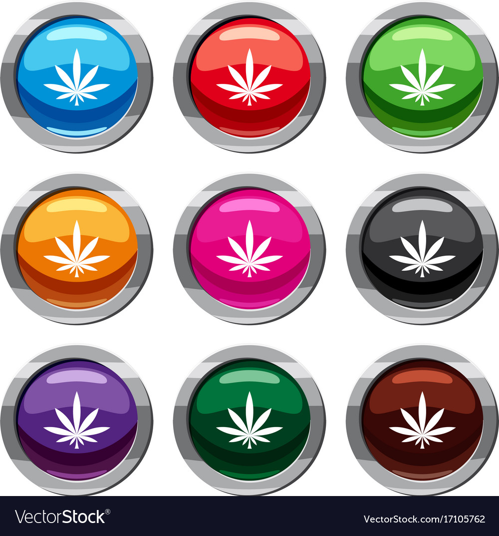 Cannabis leaf set 9 collection