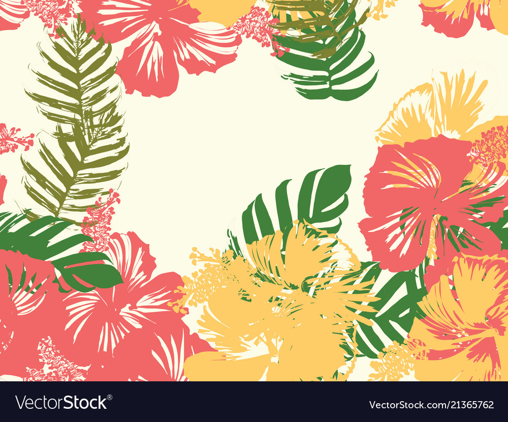 Hawaiian exotic cover template royalty free vector image hawaiian exotic cover template vector image izmirmasajfo