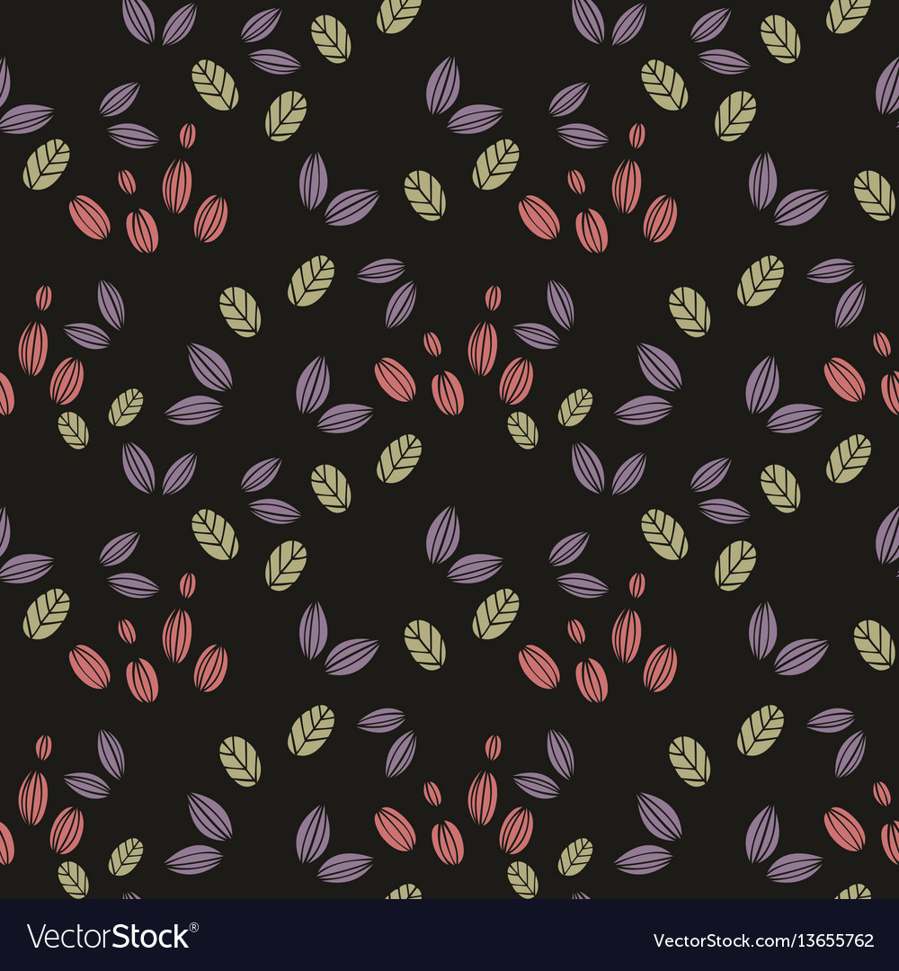 Seamless abstract pattern stylized elements on