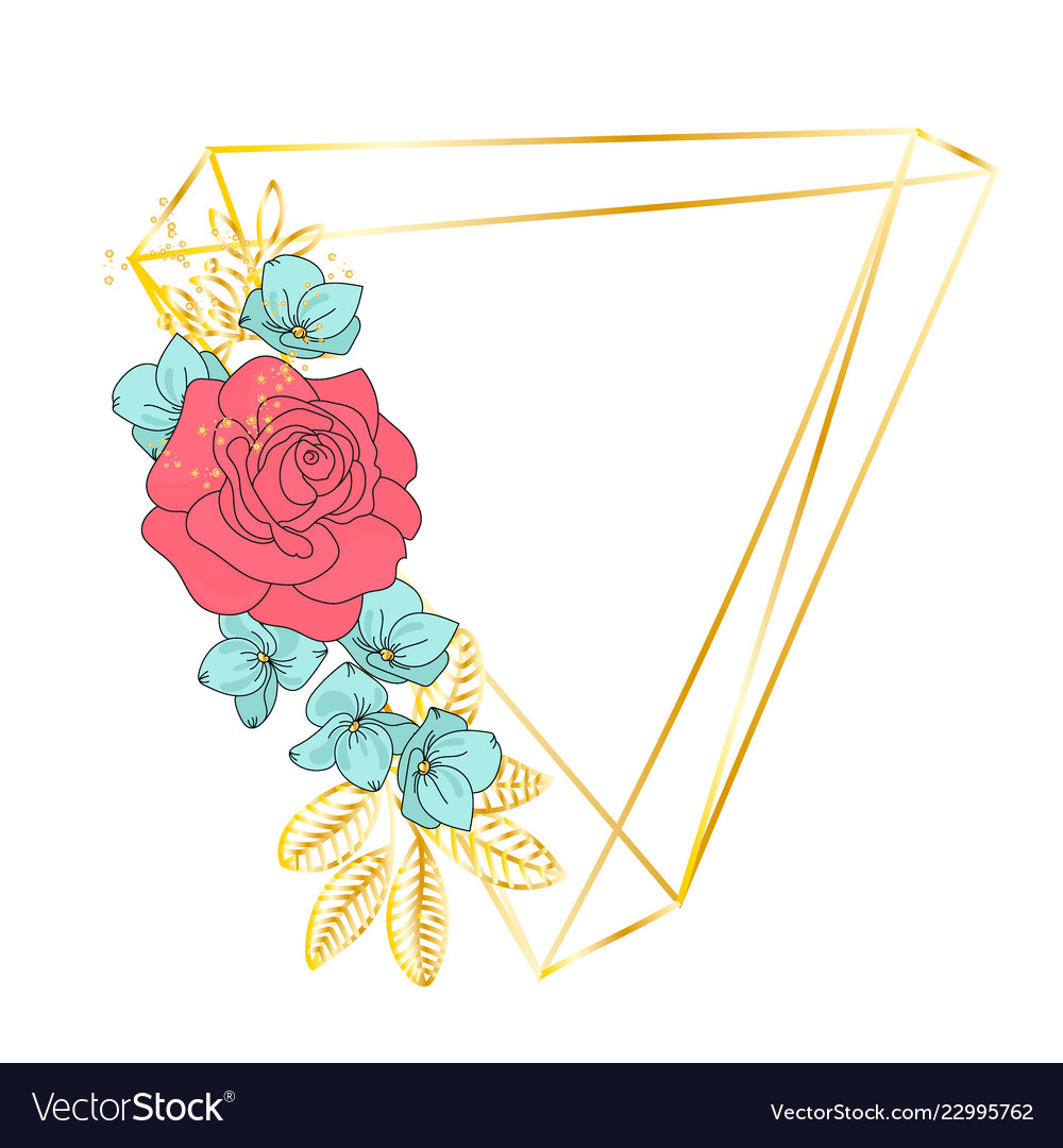 Triangle Rose Wedding Birthday Holiday Party Vector Image