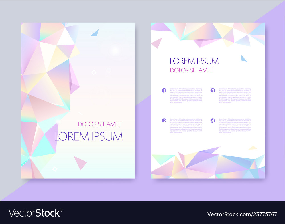 Abstract geometric graphic design covers