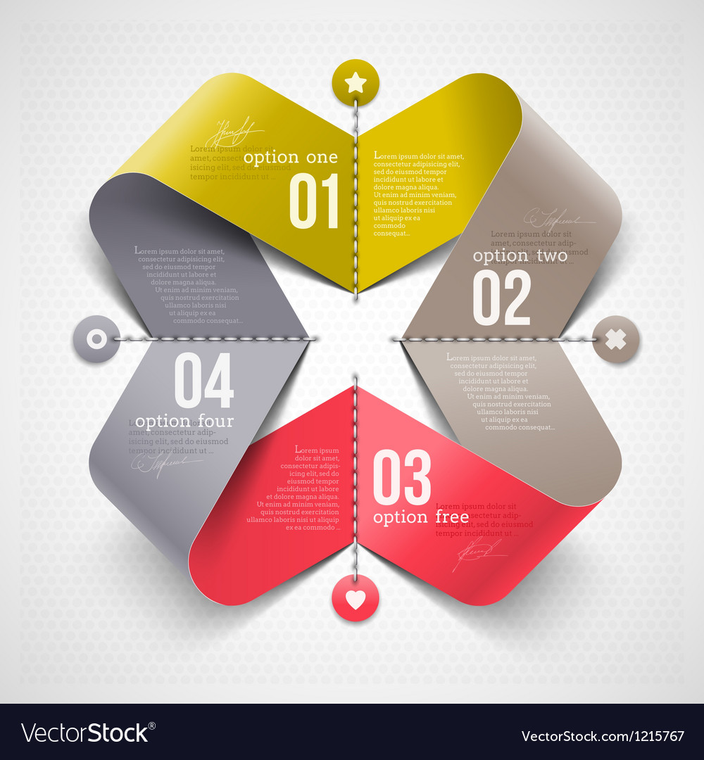 Abstract shape with infographics elements