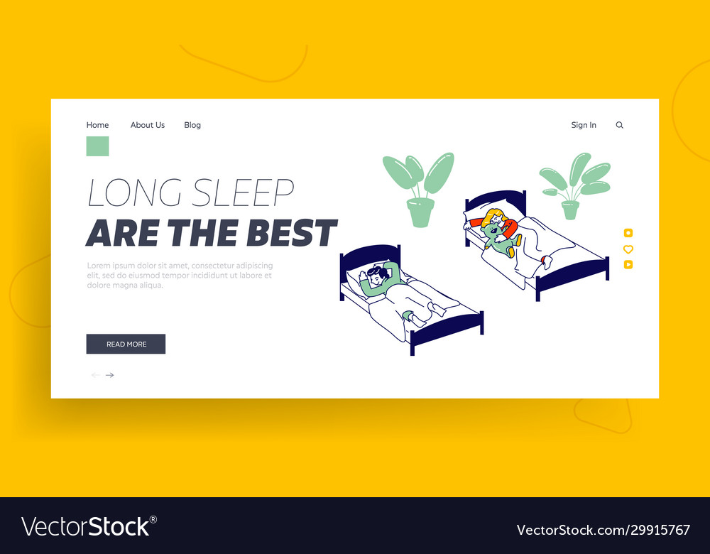 Afternoon nap time website landing page little