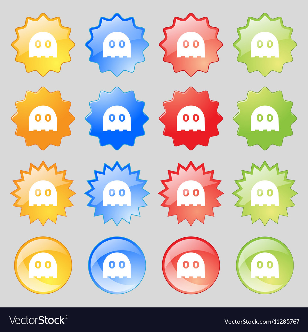 Ghost icon sign Big set of 16 colorful modern vector image