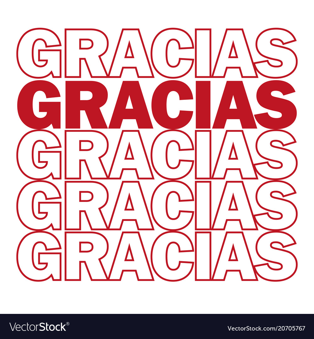 Gracias thank you in spanish motivating vector image