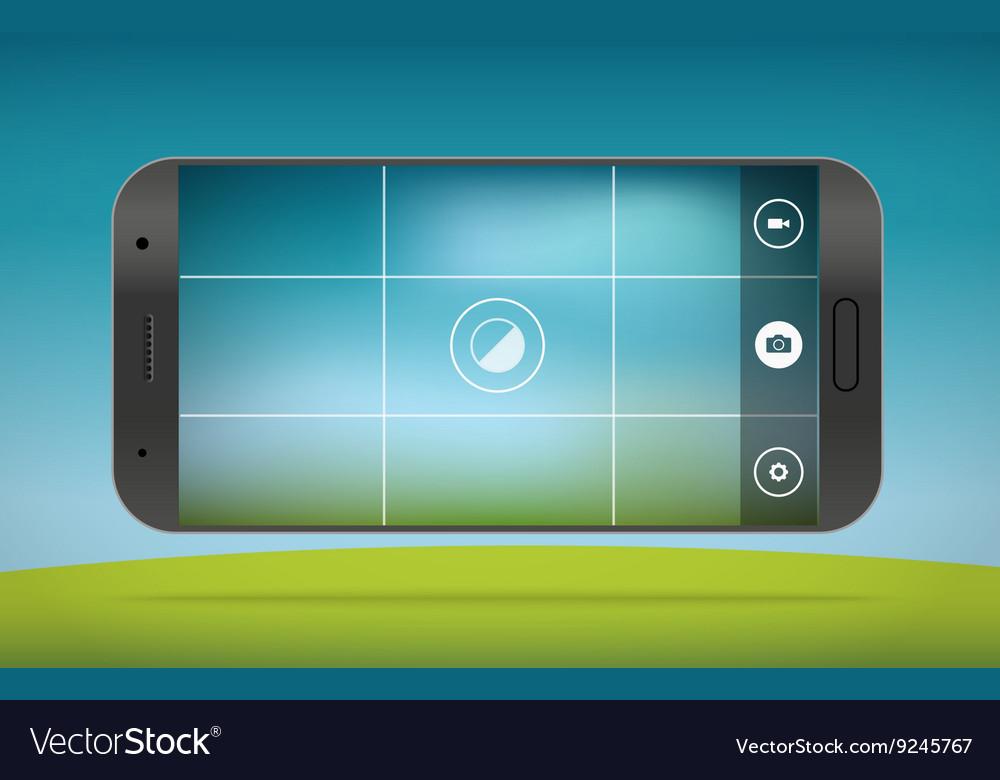 Modern smartphones photo application template