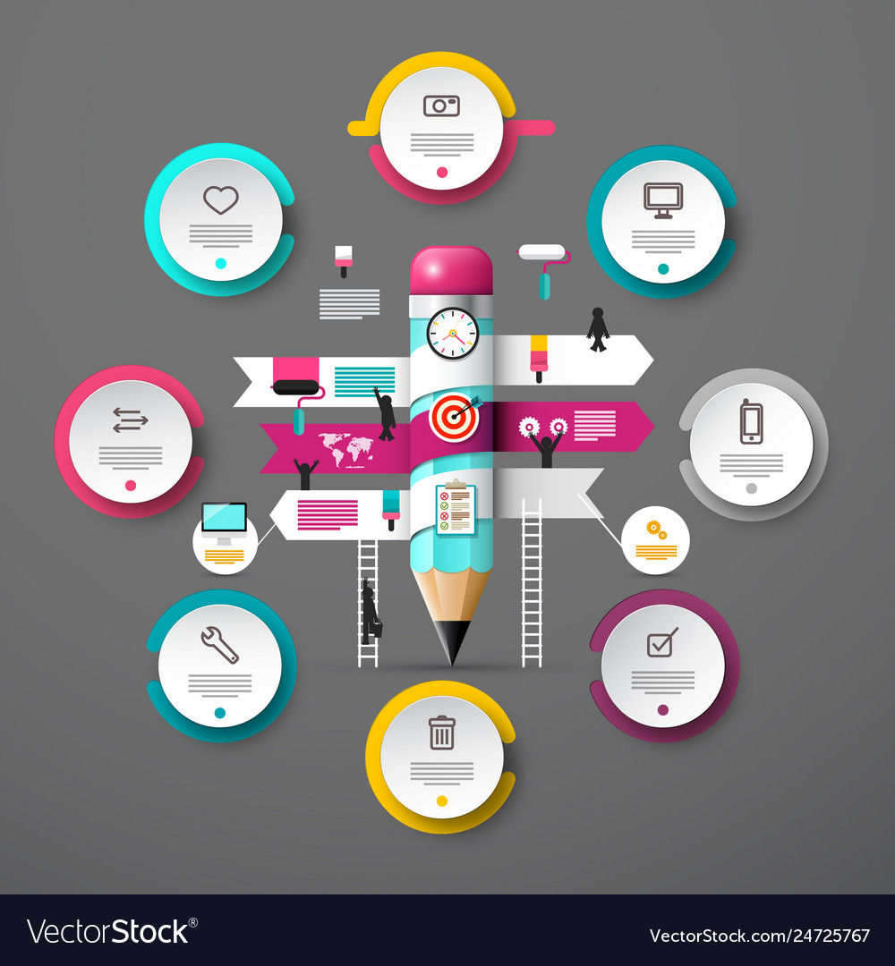 Presentation concept with infographic elements