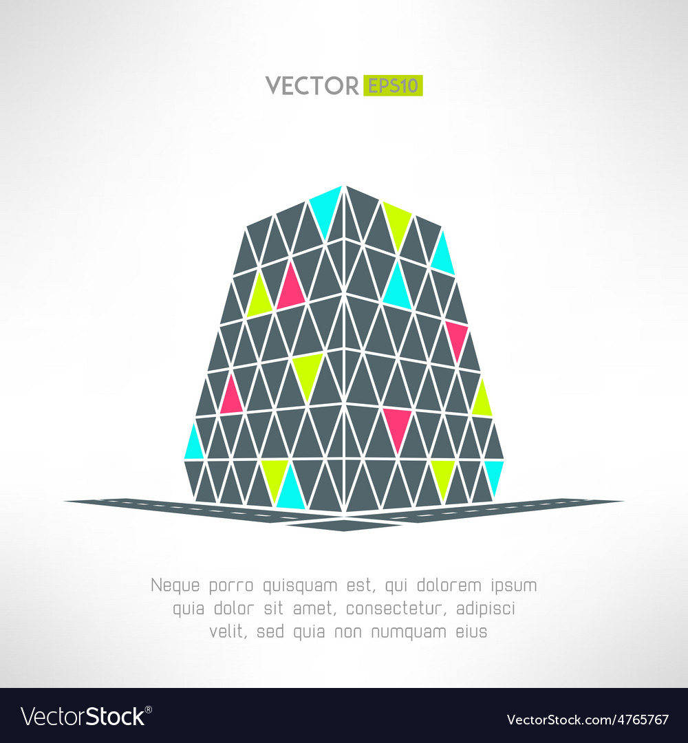 Puzzle building in pespective Shopping vector image