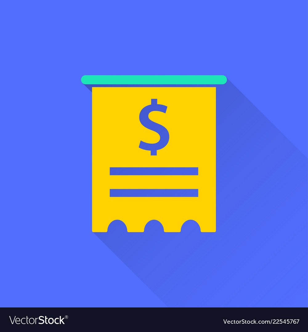 receipt icon for graphic and web design vector image