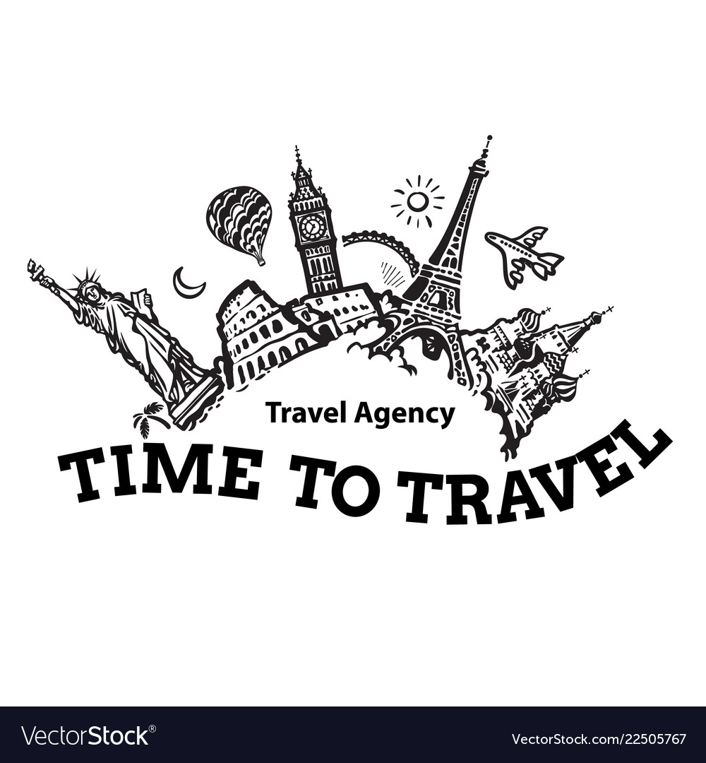 Travel agency signboard travel and tourism