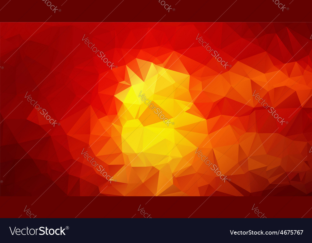 Yellow red abstract low poly background