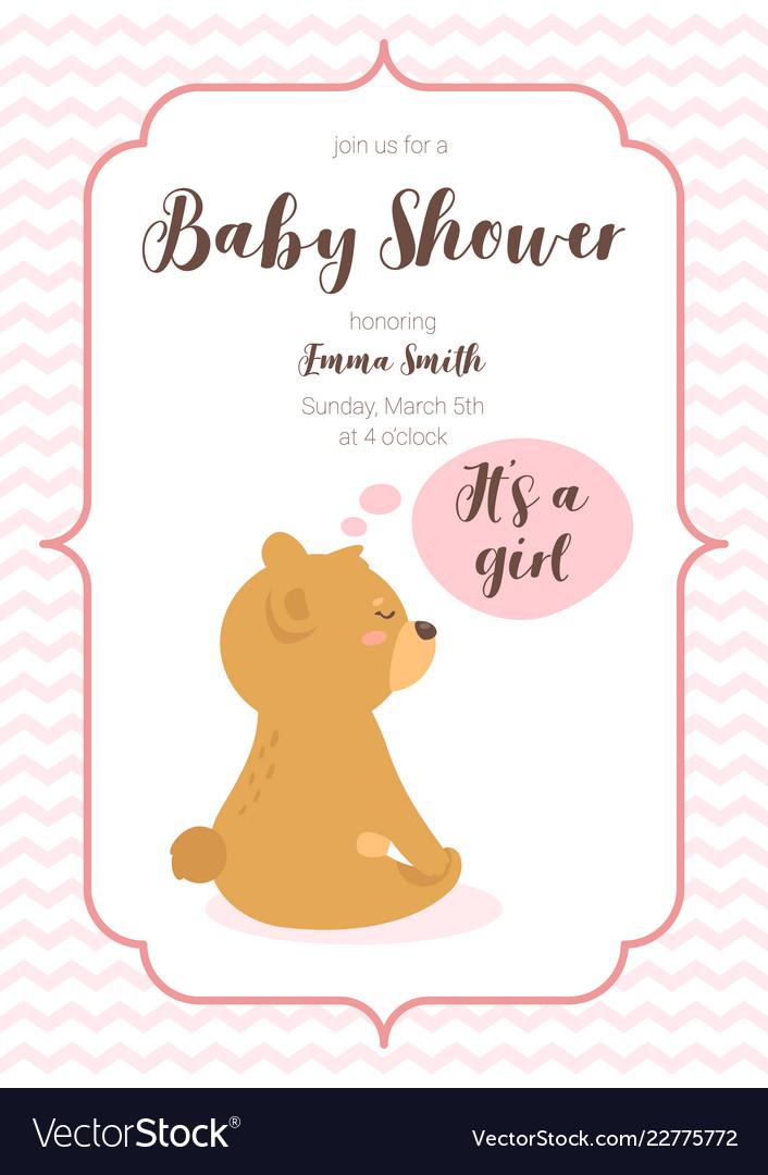 Baby shower design template