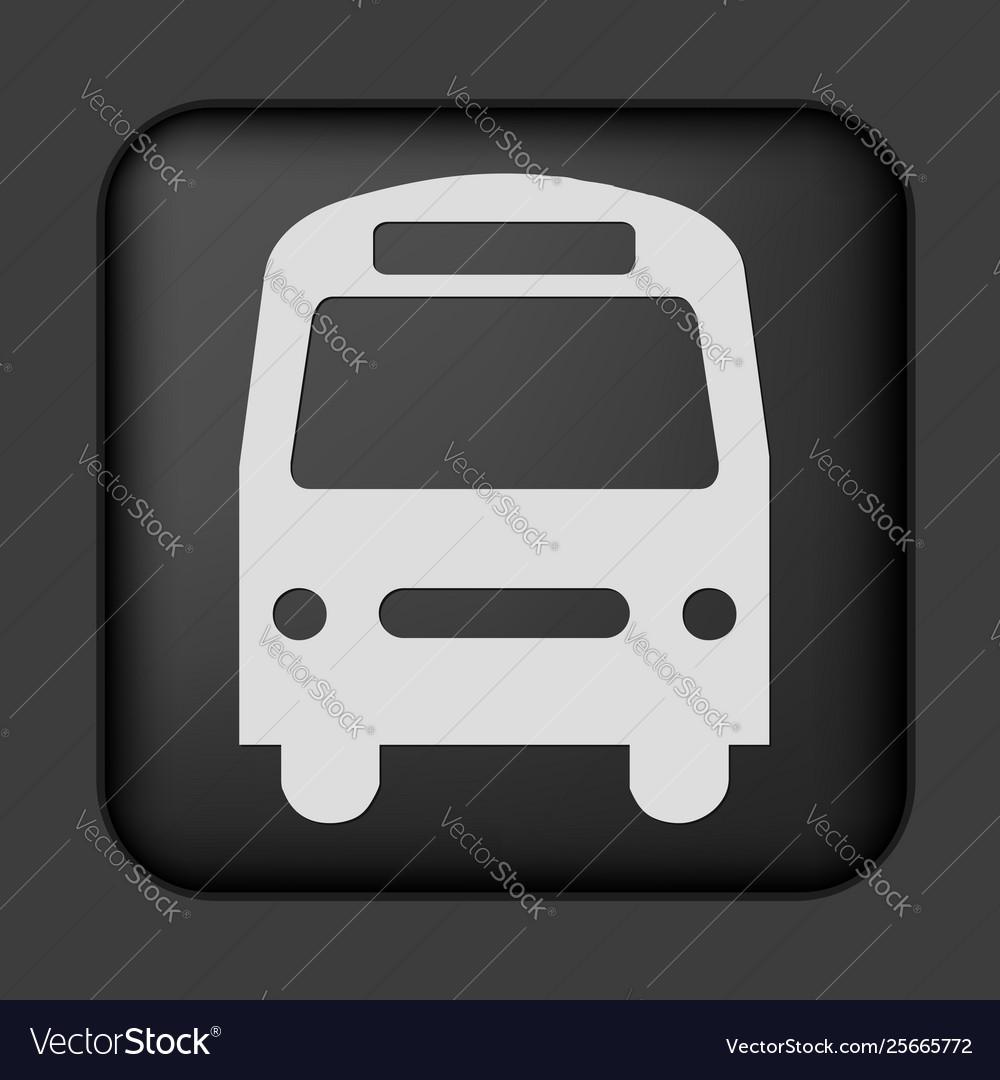 Black bus icon