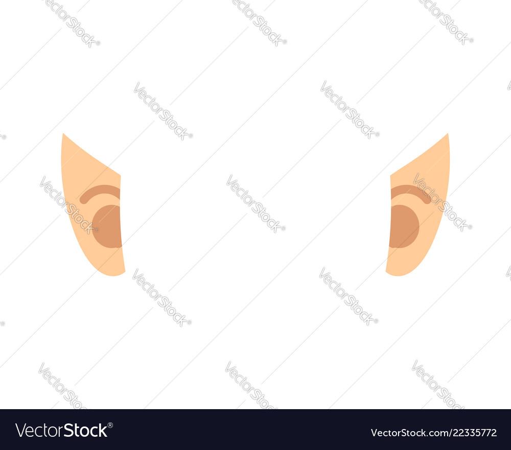Elf Ears Isolated Template Portrait Royalty Free Vector Jpg 1000x881