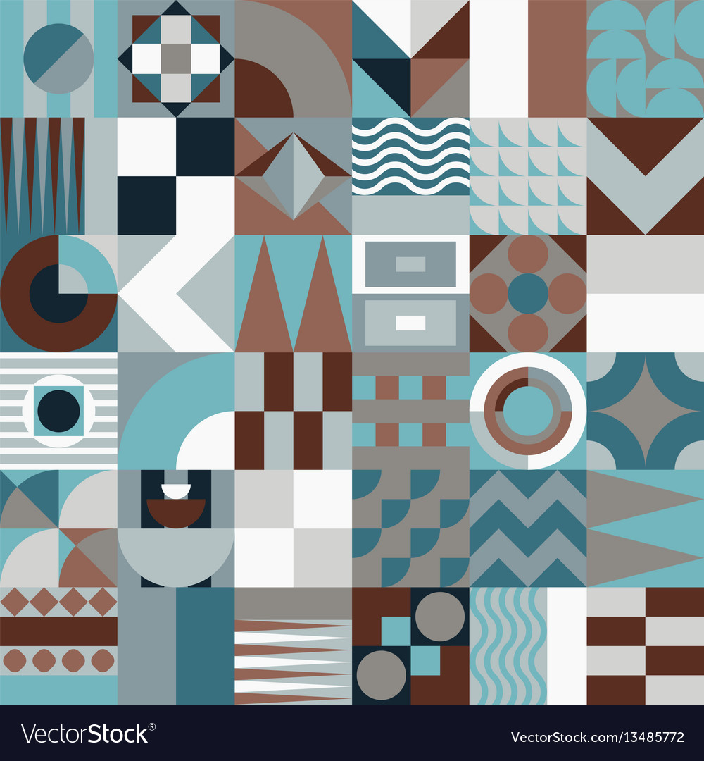 Geometric mosaic seamless pattern