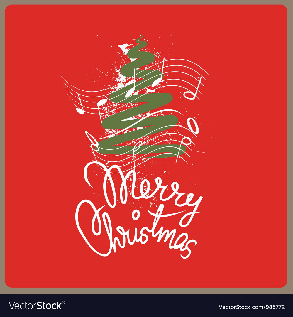 merry christmas song vector image - Merry Christmas Song